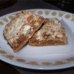 Pecan Pie Bars II Recipe - Quick and easy holiday treat.
