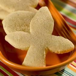 Biscochitos Traditional Cookies Recipe - This is New Mexico's traditional cookie. A great thick sugar cookie that is dusted with cinnamon-sugar. The traditional shape is fleur-de-lis, but use your favorite cookie cutters if you like.