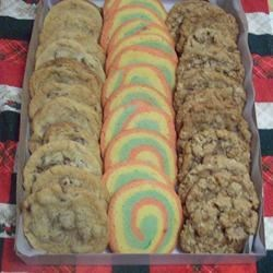Cookies! Chocolate Chip, AR Christmas Pinwheels, AR Soft Oatmeal Cookies.