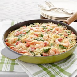 Shrimp and Pasta Formaggio Recipe - Impress your family and friends with this tasty, but easy-to-make, pasta dish that's perfect for everyday dinners or special occasions.