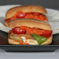 Ratatouille Sandwich Recipe - These cheesy Ratatouille Sandwiches are filled with summer vegetables and grilled on a panini press for a quick and easy vegetarian meal.