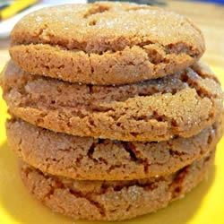 Crackle Top Molasses Cookies Recipe - The molasses cookies from this recipe taste like gingersnaps thanks to the use of ginger, cinnamon, and cloves.