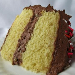 Yellow Cake Made from Scratch Recipe - Very simple cake, anyone can make it. You may substitute butter or margarine for half of the shortening if you desire.