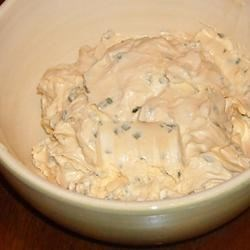 Bagel and Cheese Dip Recipe - This creamy, cheesy dip is truly a crowd pleaser, and it's so easy to make! Cut onion bagels into bite sized pieces for dipping.