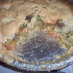 old fashioned meat pie