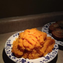 Whipped Butternut Squash Recipe - Whipped butternut squash with butter and brown sugar is a delightful addition to the Thanksgiving or holiday table.