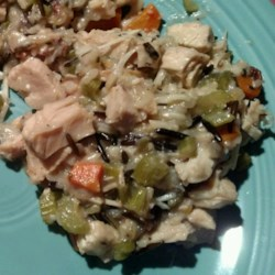 Wild Rice and Leftover Turkey Casserole Recipe - Leftover turkey casserole with wild rice and cream of mushroom soup is easy to prepare and the whole family will love it.