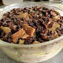 Microwave Raisin Bread Pudding Recipe - Raisin bread pudding made in just a few minutes in the microwave.