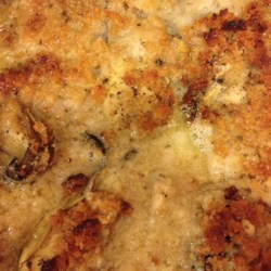 Scalloped Oysters Recipe - Mild oyster taste with a crunch crumb topping.