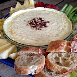 Baked Fruit Dip Recipe - This warm dip is a wonderful blend of melted cheeses and fruits.