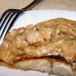 Broiled Grouper with Creamy Crab and Shrimp Sauce