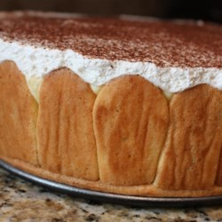Emily's Famous Tiramisu Recipe - Homemade ladyfingers are soaked in a rum-coffee syrup and  layered with sweetened mascarpone in this elegant tiramisu made in a springform pan.