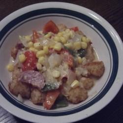 Corn, Sausage and Pepper Chowder