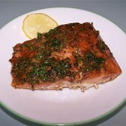 Simple Salmon with balsamic glaze