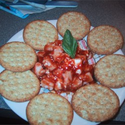 Seafood Dip I Recipe - This is an EASY delicious dip that goes great with your favorite crackers. Adjust sauce to taste. Some people like more meat, and some like more sauce.