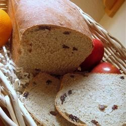 Raisin Bread III Recipe - Raisins in all their glory can stand alone in this white yeast bread, or you can add citrus zest to further seduce your taste buds. For variation, try prunes or nuts instead of raisins.