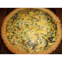 LIGHT AND FLUFFY SPINACH QUICHE
