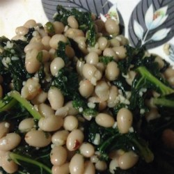 Greens and Beans Recipe - This is a simple dish using canned beans and escarole to make a tasty side or lunch depending on your appetite.