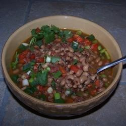 Spicy Chipotle Black-Eyed Peas Recipe - It's a tradition to eat black-eyed peas on New Year's Day for good luck. This version is vegetarian and gets its smoky spiciness from chipotle peppers.