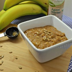 Sunflower Banana Oatmeal Recipe - Sunflower seed butter and bananas are mixed into oatmeal for a hearty and vegan breakfast that is ready in about 10 minutes.