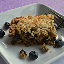 Blueberry Oatmeal Breakfast Bars Recipe - Whole oats, fresh blueberries, and walnuts make these easy homemade granola bars as healthy and filling as they are delicious.