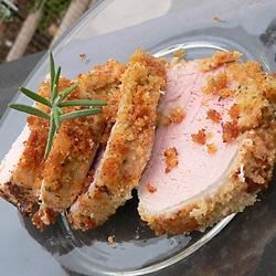 Easy and Elegant Pork Tenderloin Recipe and Video - This main dish is beautiful in its presentation and always comes out tender and juicy even if you overcook it a little.  The crust of bread crumbs holds in all the juices and adds a great look and taste to the finished product.