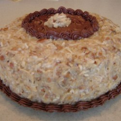 Coconut Pecan Frosting II Recipe - This frosting is great on many cakes, not the least of which is German Chocolate Cake.