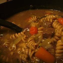 Veggie Beef Noodle Stew