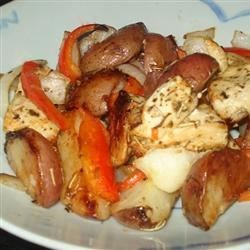 Broiled Chicken Breasts with Herbs, Carrots, and Red Potatoes