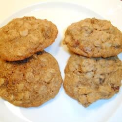 Oatmeal Raisin Cookies VII Recipe - A chewy oatmeal raisin bar cookie with a hint of cinnamon.