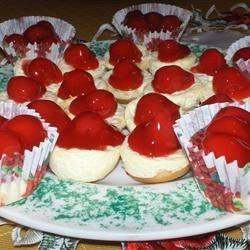 Sugar Free Mini Cherry Cheesecakes