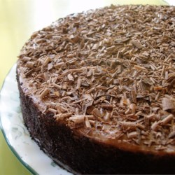 Irish Cream Chocolate Cheesecake Recipe and Video - If you like Irish cream and chocolate, you'll love this recipe.