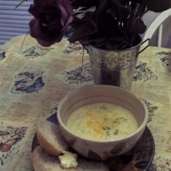 Broccoli Cheese Soup VII and Bread