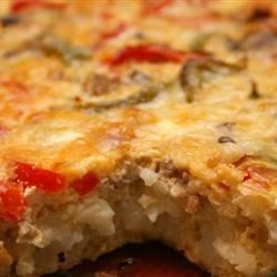 Breakfast Casserole II Recipe - An easy to make breakfast casserole with sausage, potatoes, eggs, and mushrooms.