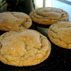 Molasses Sugar Cookies II Recipe - These taste like a ginger cookie. They can be either crispy or chewy, depending on when they are taken out of the oven. Balls of dough are formed, then rolled in sugar and baked.