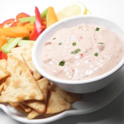 Mediterranean Onion Dip Recipe - A great dip full of flavor, especially for those that like garlic. Perfect dip or spread for flatbread, pitas, cut veggies, tortilla chips or regular potato chips.