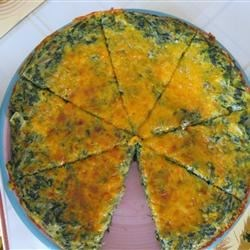 Spinach and Potato Frittata Recipe - A tasty frittata made with potatoes, spinach, garlic, green onions, and cheese. Delicious!