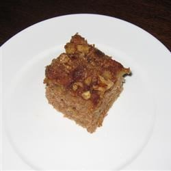 Mom's Prize Winning Raw Apple Cake Recipe - A lightly spiced apple cake with a crunchy cinnamon and walnut topping.