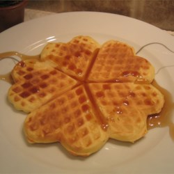 Deluxe Waffles Recipe - This recipe yields nicely  'eggy ' waffles that comes out tender and soft, ready to take on butter and syrup.