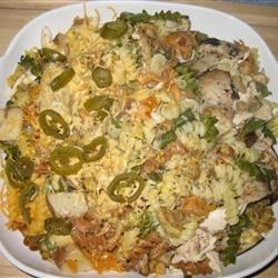 Leftover Casserole Recipe - This is a great way to use leftover ham, chicken, turkey or beef. A creamy soup mixture of meat, pasta, cheese and veggies provides a great next day casserole.