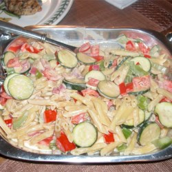 Pasta With Veggies In a Tahini and Yogurt Sauce