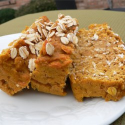 Pumpkin Oat Bread Recipe - Pumpkin bread gets extra heartiness when made with rolled oats.