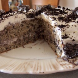 "Dirty Snow Cake Recipe - This is a cool, creamy cake that is pretty and white on the outside and looks like ""dirty snow"" on the inside. Delicious!"