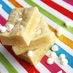 White Chocolate Blondies Recipe - These bars have become an office favorite -- they are naughty but OH SO NICE!