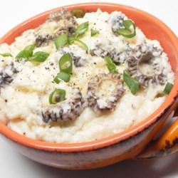 Creamy morel mushroom grits recipe for Morel mushroom recipes food network