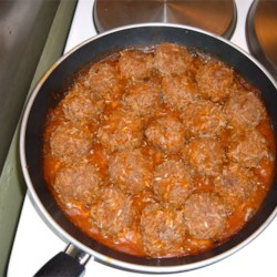 Porcupine Meatballs II Recipe - Simple and delicious. Beef meatballs with rice, simmered in tomato soup. Great for a fast meal on a busy schedule.