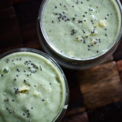 Chia Ginger Smoothie Recipe - Cucumber, chia, ginger, and banana come together in this refreshing green smoothie that is quick and easy to prepare.