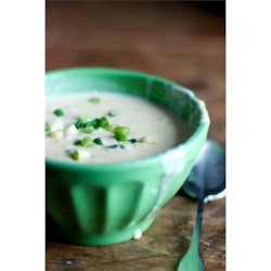 Cauliflower-Cheese Soup Recipe - Cooked vegetables and cheddar cheese are added to a roux-thickened milk base in this comforting soup.