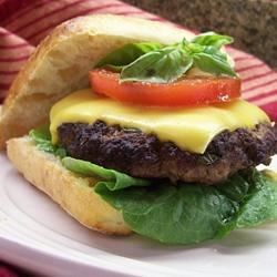 Basil Burgers Recipe - If you like basil, this is a great way to spice up a normal burger in no time!