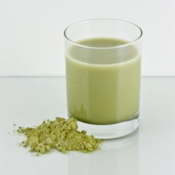 Matcha Green Tea Ice Latte Recipe - This iced latte requires green tea powder.